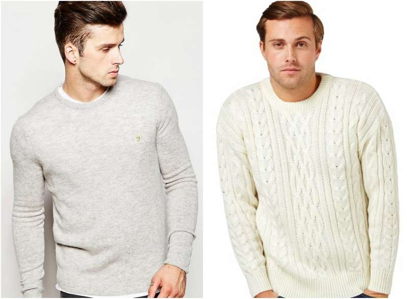 wool white jumper