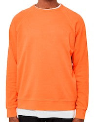 ymc almost grown sweatshirt cotton loopback orange for men