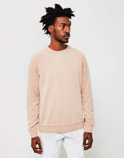 ymc almost grown sweatshirt cotton loopback pink
