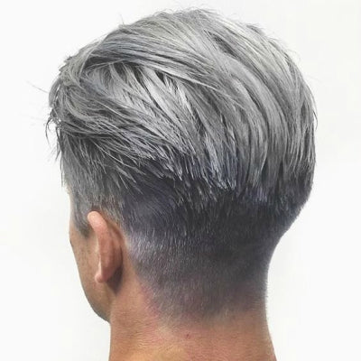young mens dyed grey hair