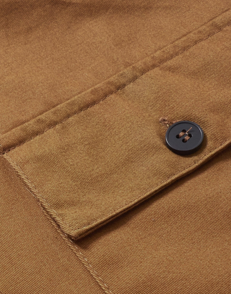 The Idle Man - 3 Pocket Chore Jacket Brown