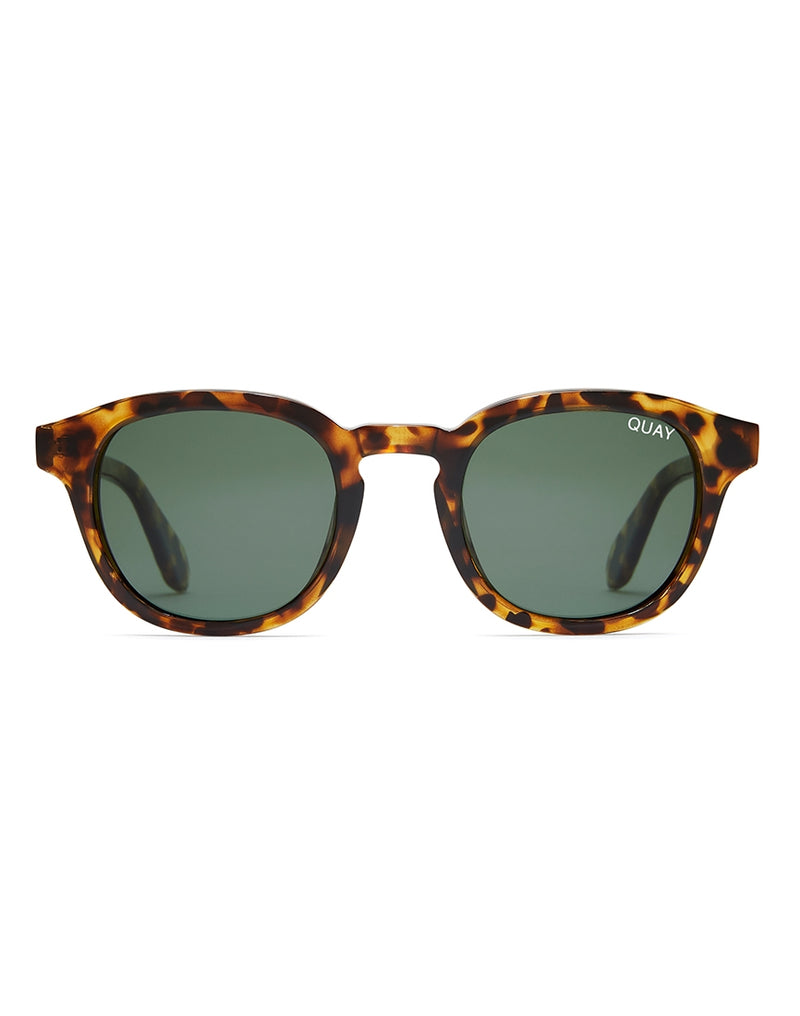 Quay Australia - Walk On Tortoise Sunglasses With Green Lens