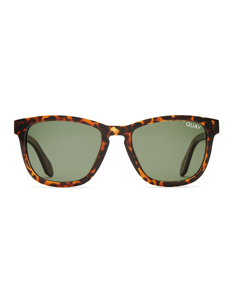 Quay Australia - Hardwire Sunglasses Tortoise With Green Lens