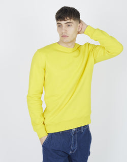 The Idle Man - Organic Cotton Crew Neck Sweatshirt Golden Yellow