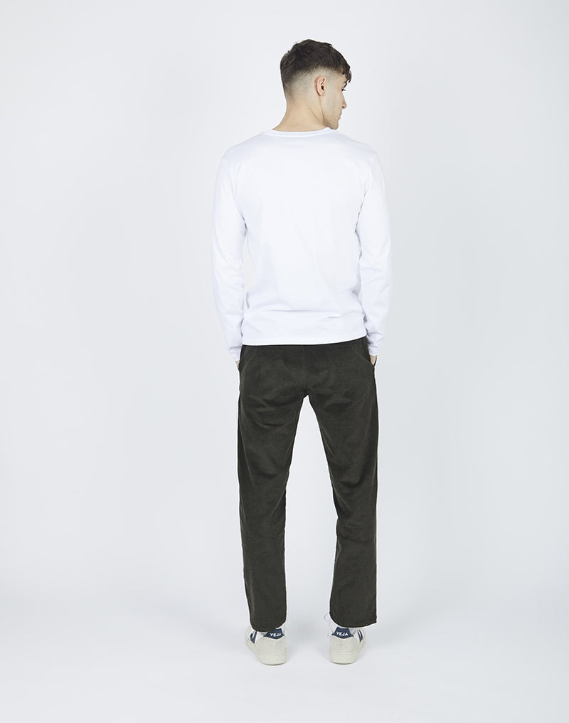 The Idle Man - Organic Cotton Long Sleeve T-Shirt White