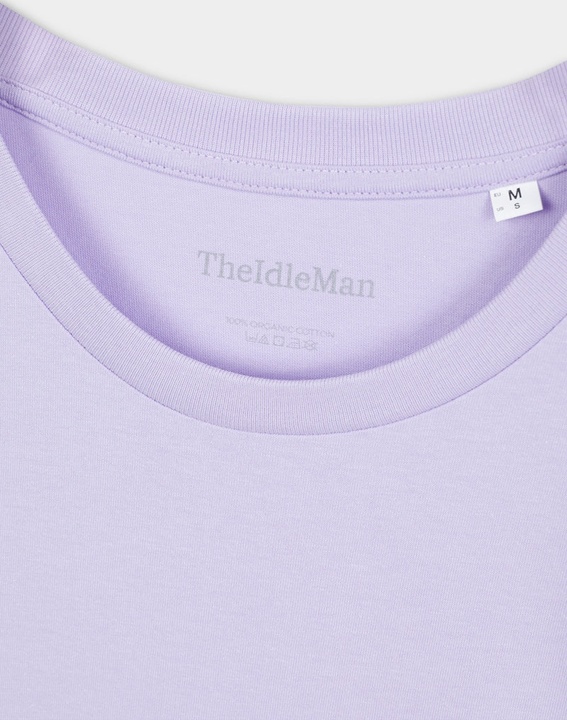The Idle Man - Organic Cotton T-Shirt Lavender Dawn