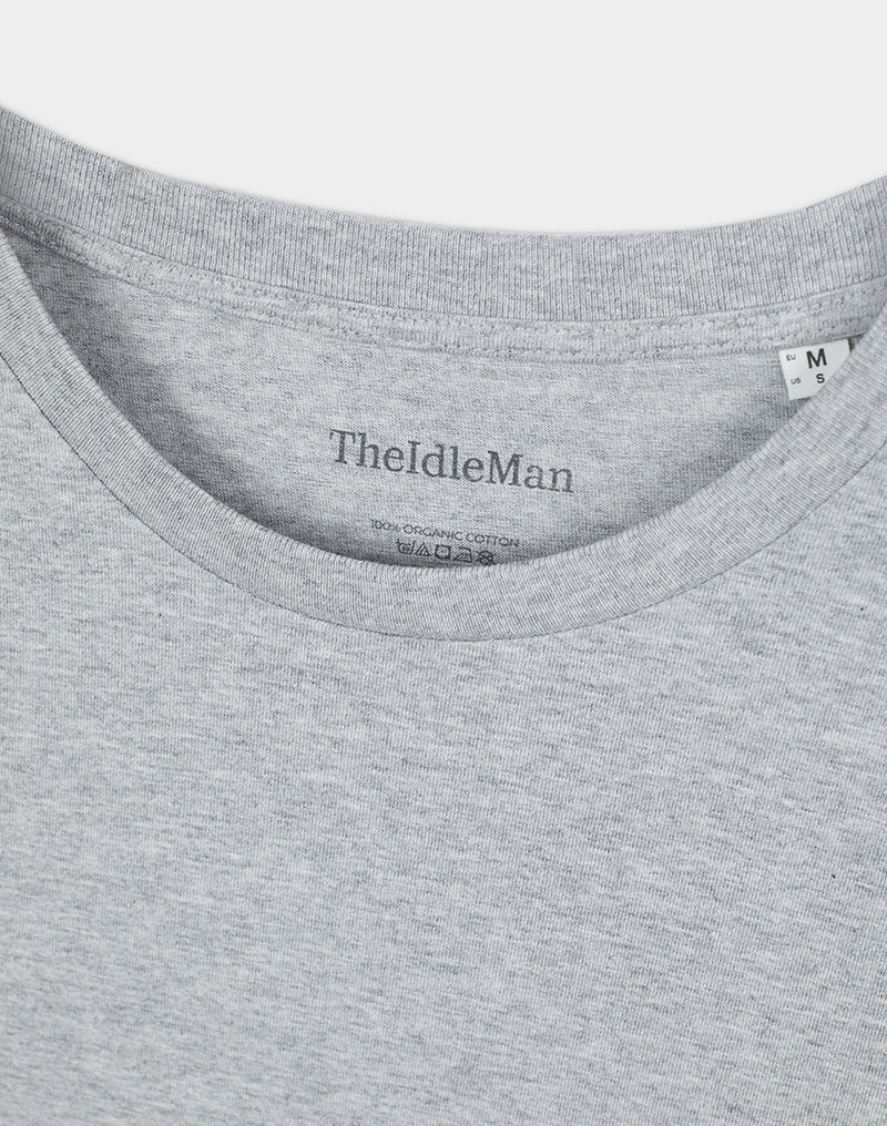 The Idle Man - Organic Cotton T-Shirt Heather Grey
