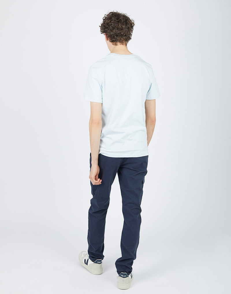 The Idle Man - Organic Cotton T-Shirt Baby Blue