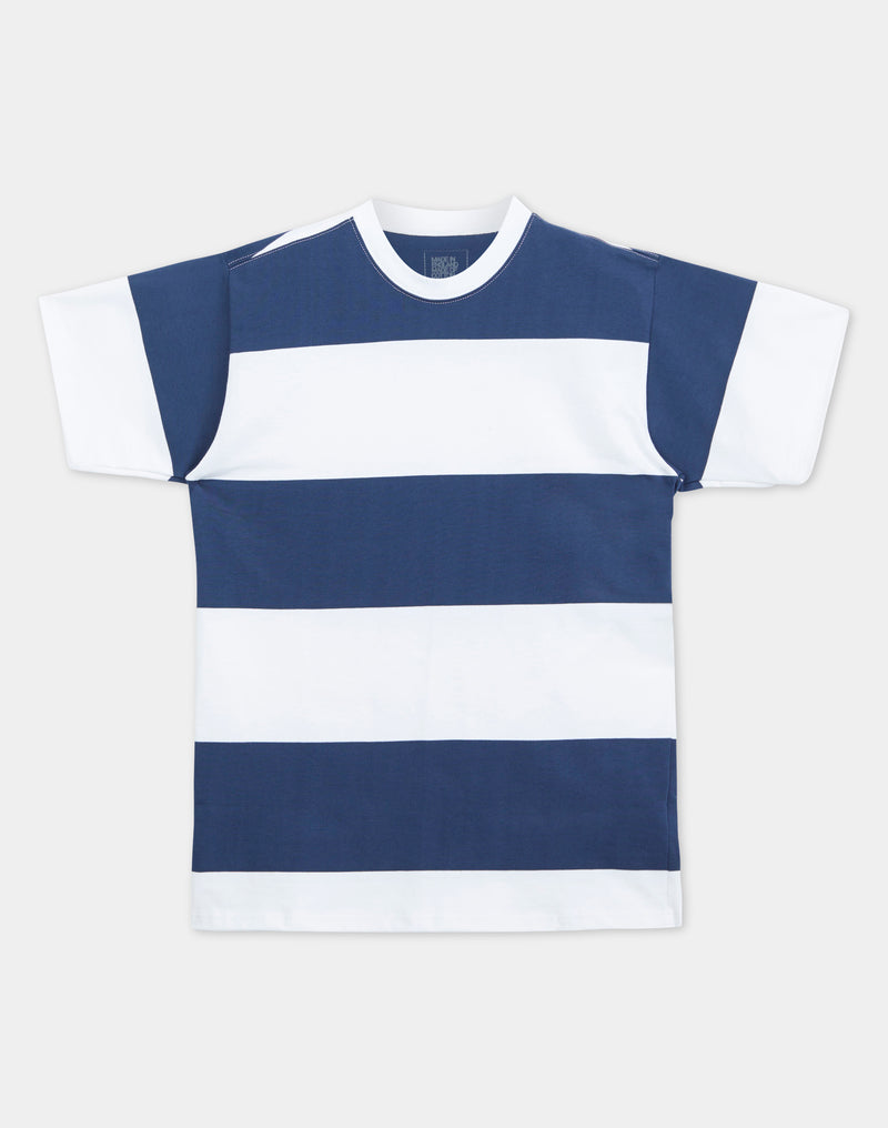Good Measure - Stripe Heavyweight T-Shirt Navy/White