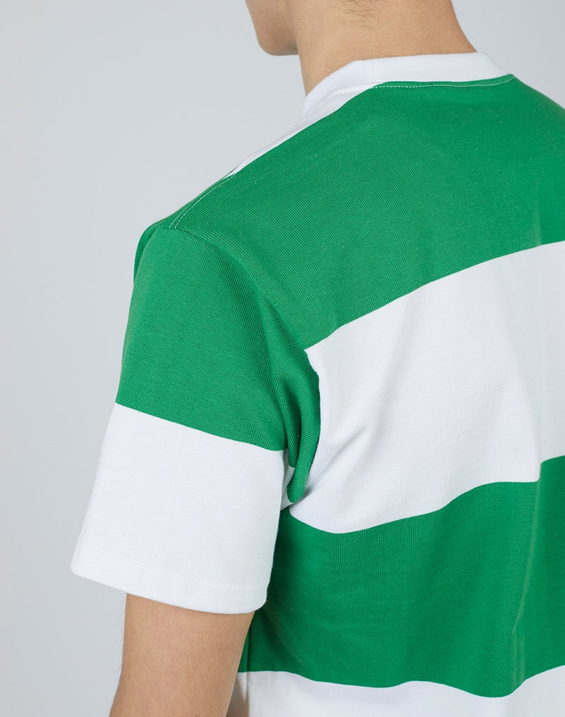 Good Measure - Stripe Heavyweight T-Shirt Green/White