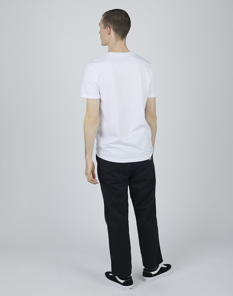 The Idle Man - Organic Cotton Pocket T-Shirt White