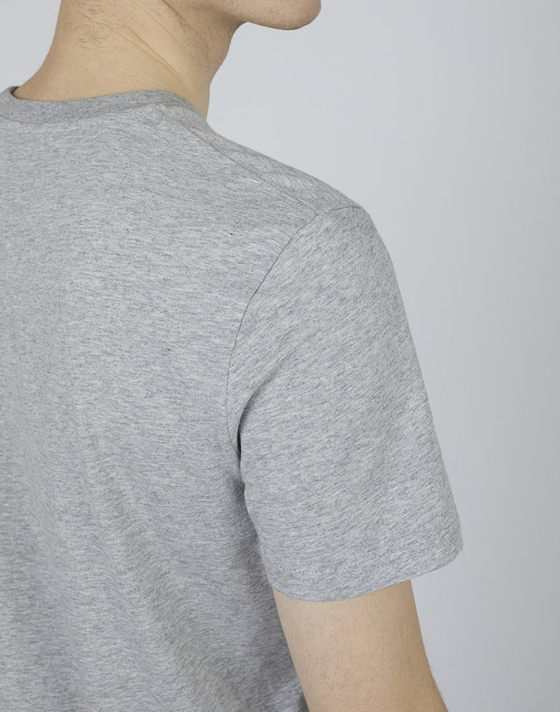 The Idle Man - Organic Cotton Pocket T-Shirt Heather Grey