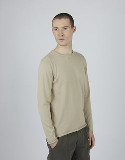 The Idle Man - Crew Neck Jumper Taupe