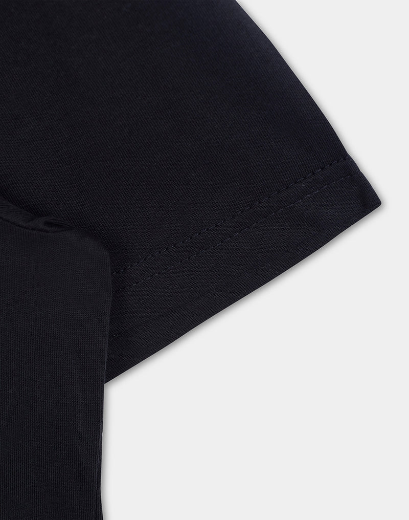 The Idle Man - Organic Cotton Pocket T-Shirt Black