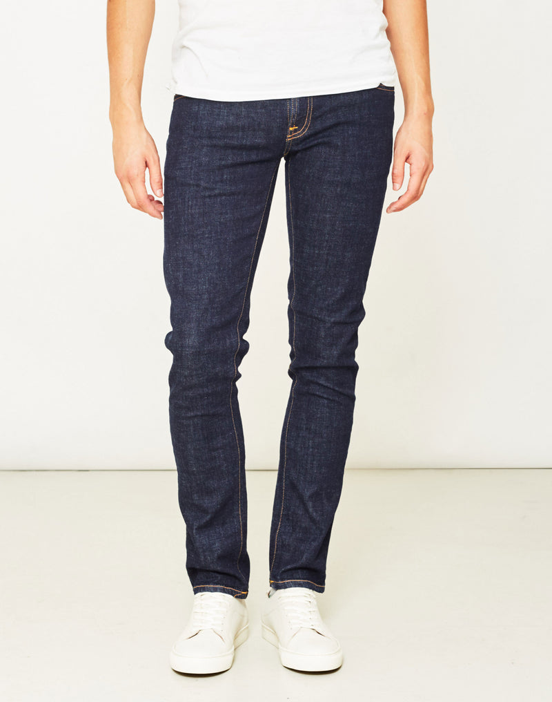 Nudie Jeans Co - Tight Long John Twill Rinsed Jeans Blue