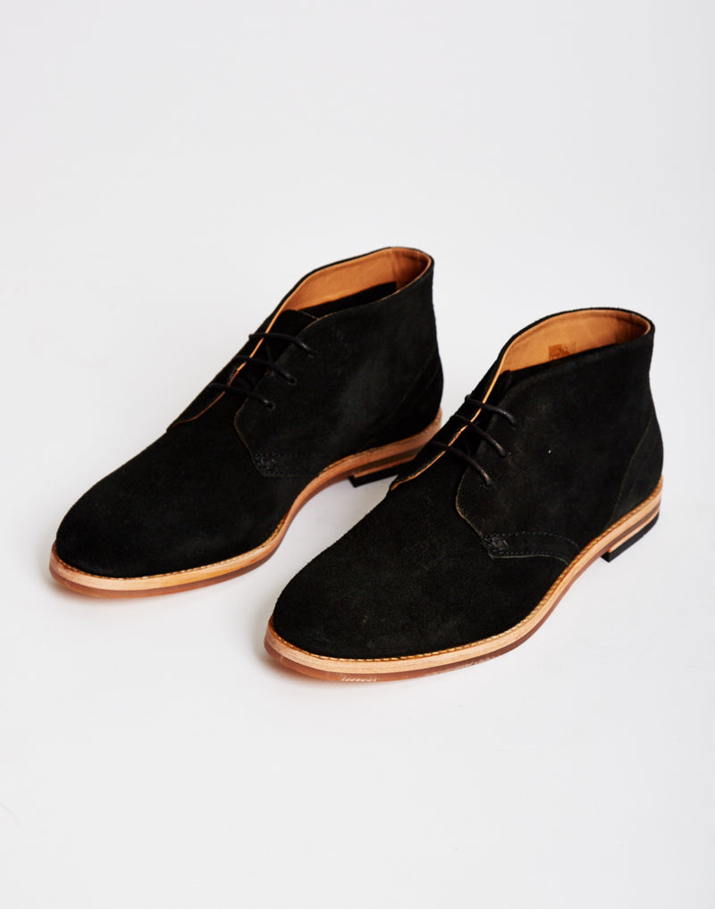 Hudson - Houghton Suede Chukka Boot Black