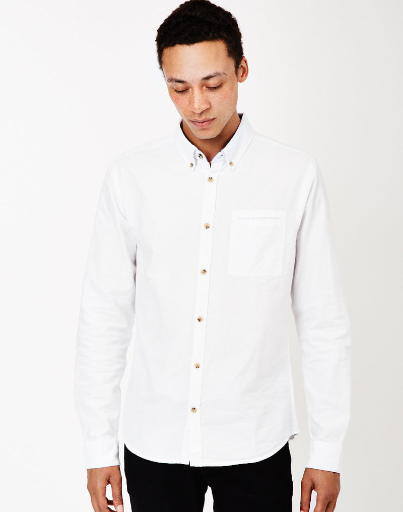 The Idle Man - Basic Oxford Shirt White