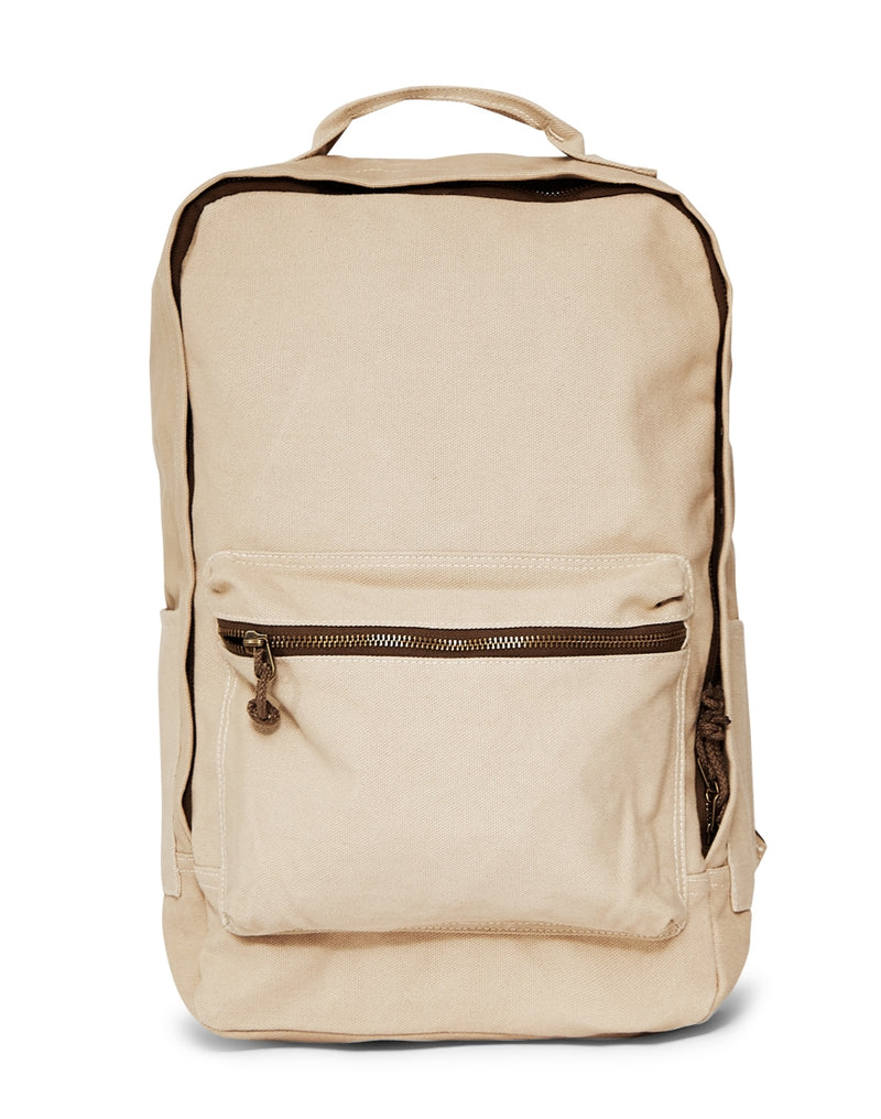 The Idle Man - Cotton Canvas Backpack Stone