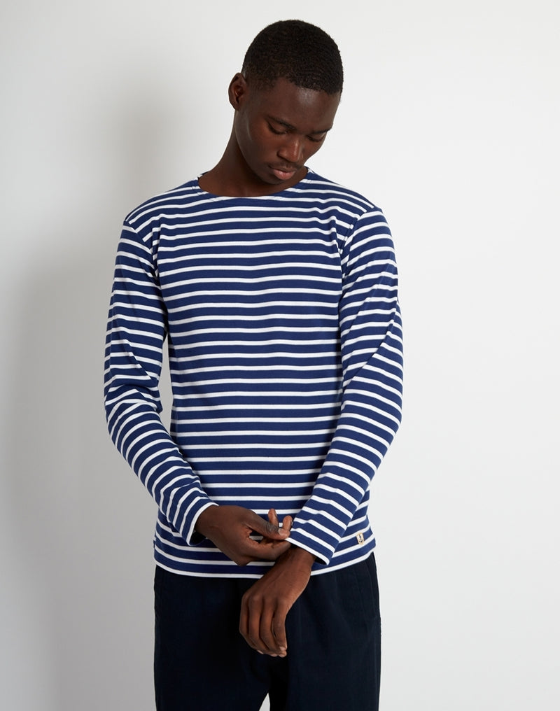 Armor Lux - Mariniere Heritage Long Sleeeve T-Shirt Navy & White