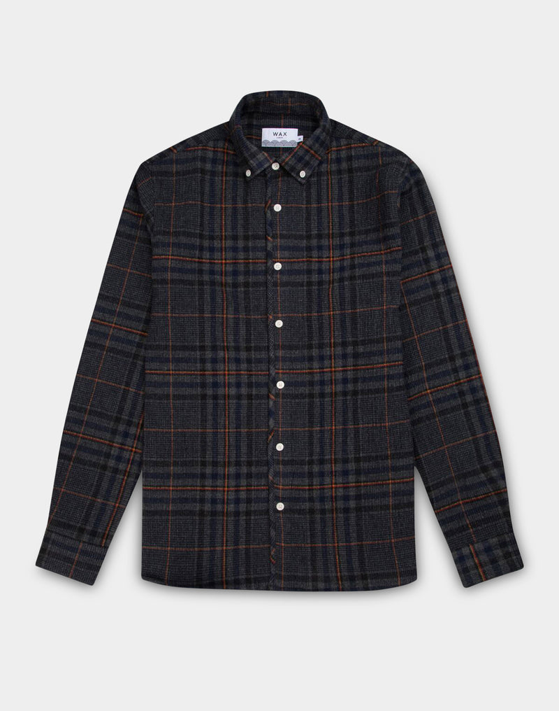 Wax London - Bampton Check Shirt Grey