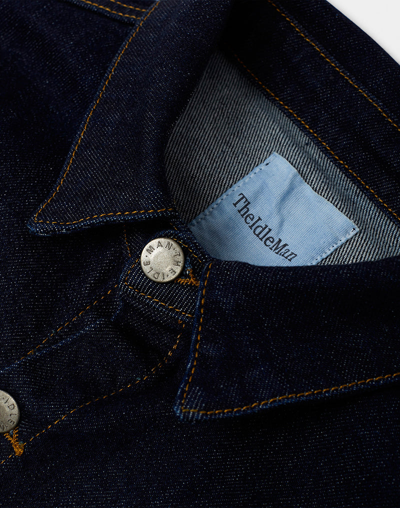 The Idle Man - Chore Jacket Denim Blue
