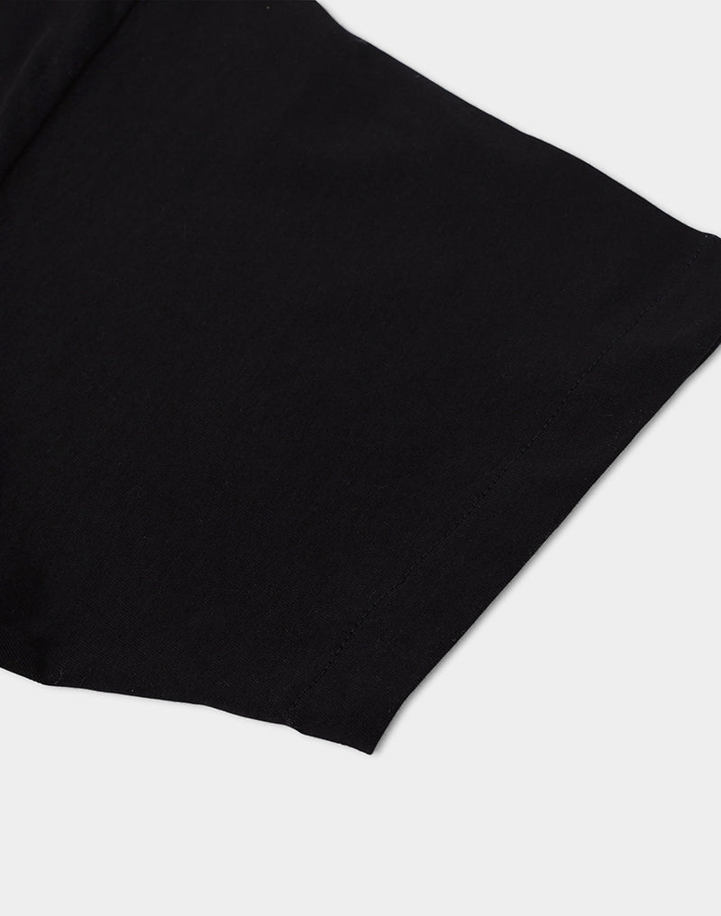 The Idle Man - Organic Cotton High Neck T-Shirt Black
