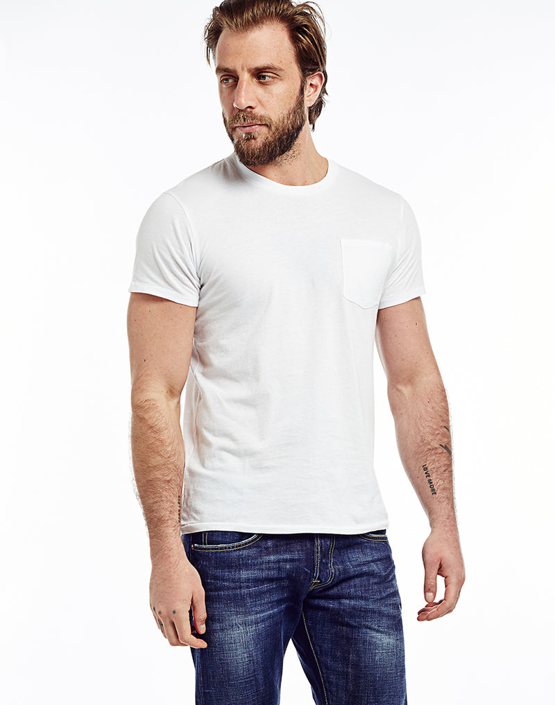Edwin - Marvin T-Shirt with Pocket White