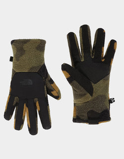 The North Face - Denali Etip Gloves Camo Print Green