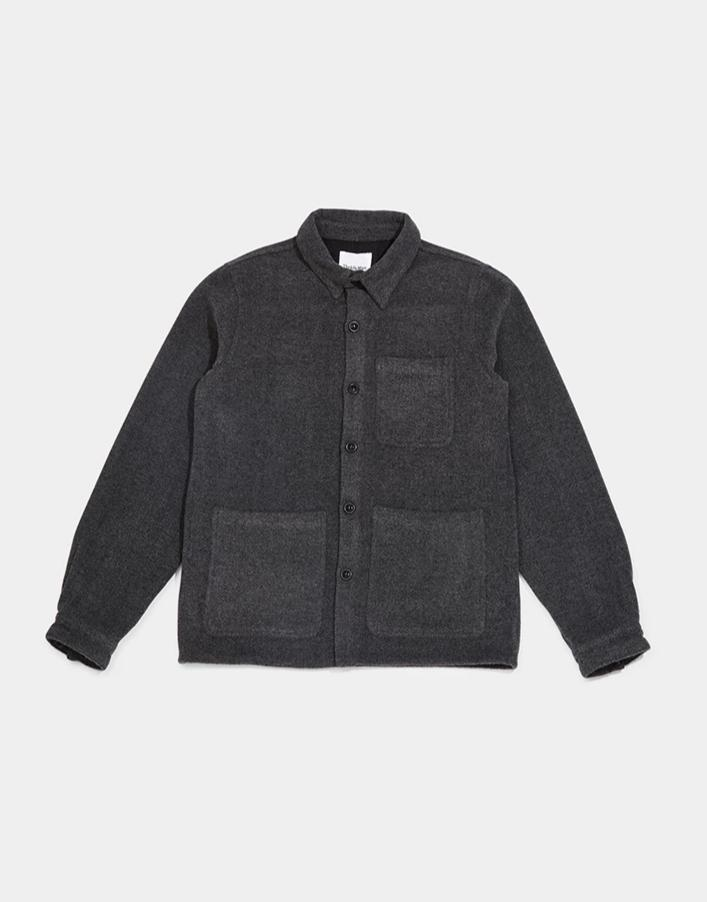 The Idle Man - Wool Chore Jacket Grey