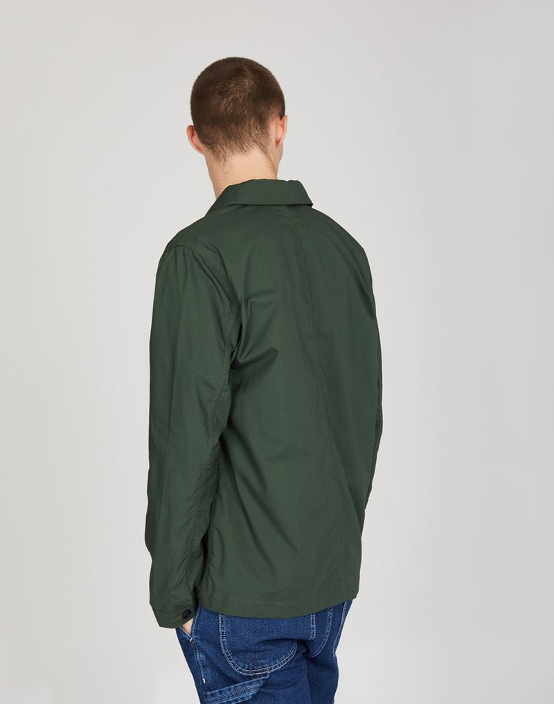 Albam - Rail Jacket in Cotton Ripstop Green