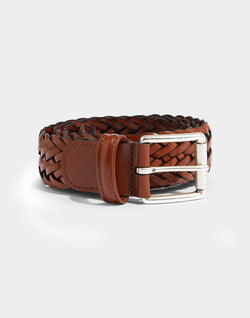 Anderson's - Woven Leather Belt Tan