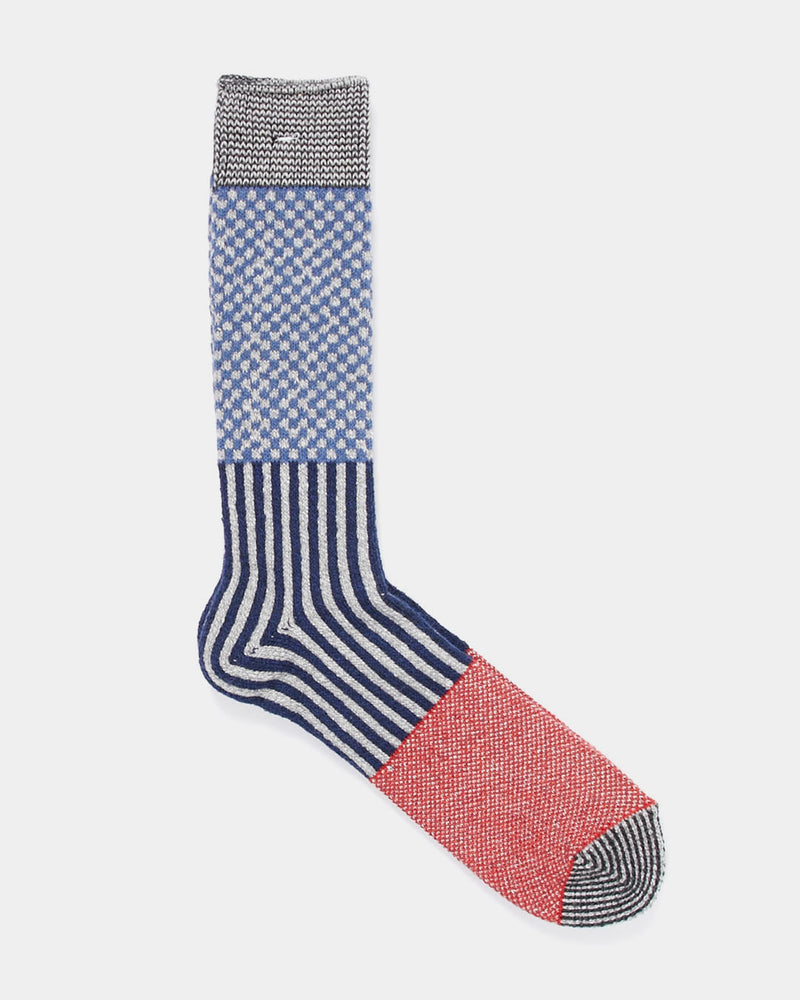 Anonymous Ism - Multi Pattern Crew Sock Navy