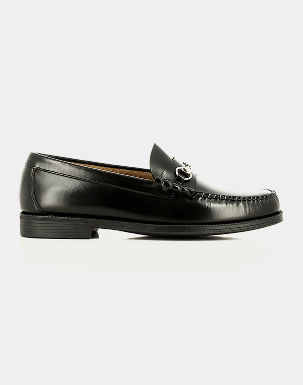 G.H.Bass & Co. - Easy Weejun Snaffle Loafers Black Leather