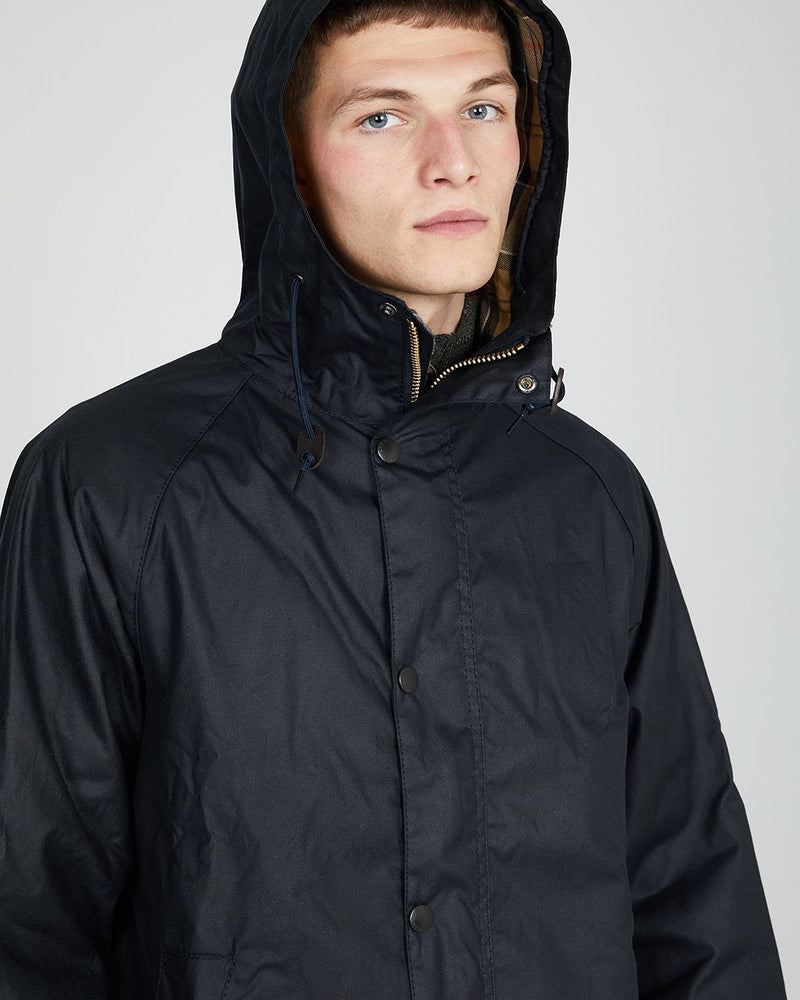 Barbour - Hooded Hunting Wax Jacket Navy