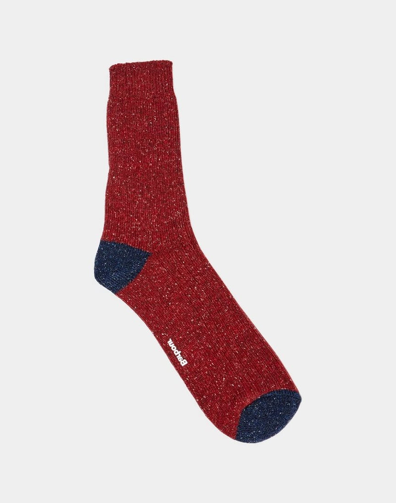 Barbour - Houghton Sock Red & Navy