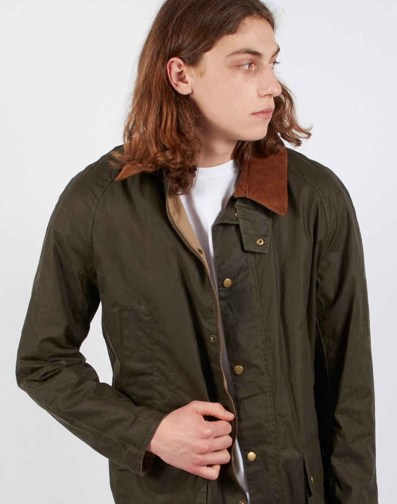 Barbour - Lightweight Ashby Wax Archive Green