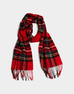 Barbour - New Check Tartan Scarf Royal Blue