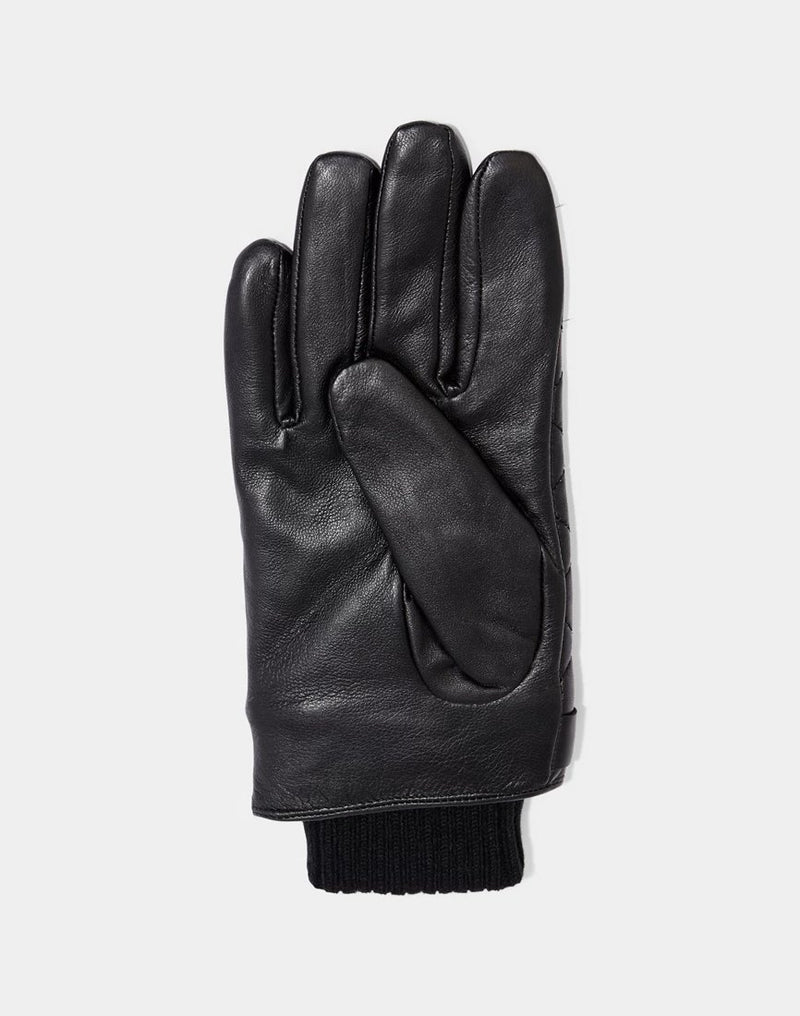 Barbour - Quilted Leather Gloves Black