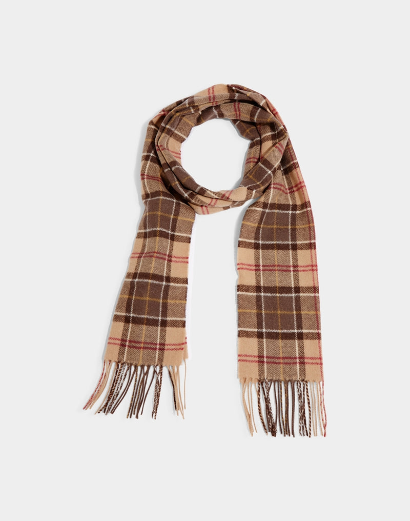 Barbour - Tartan Lambswool Scarf Muted Brown