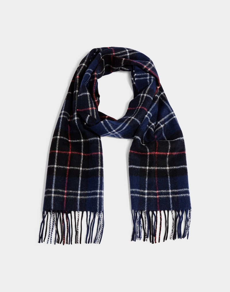 Barbour - Tartan Lambswool Scarf Navy & Red