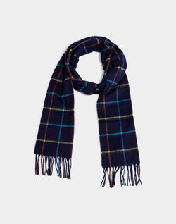 Barbour - Tattersall Lambswool Scarf Navy