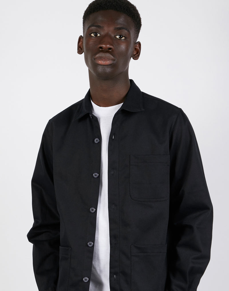 The Idle Man - Chore Jacket Black