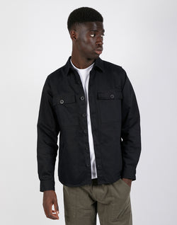The Idle Man - Pocket Overshirt Black