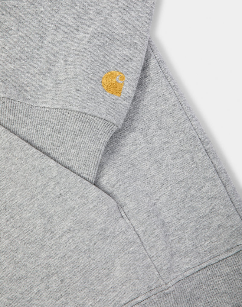Carhartt WIP - Chase Neck Zip Sweatershirt Heather