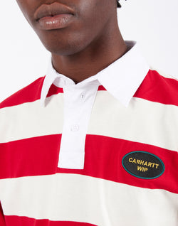 Carhartt WIP - Long Sleeve Roslyn Polo Red