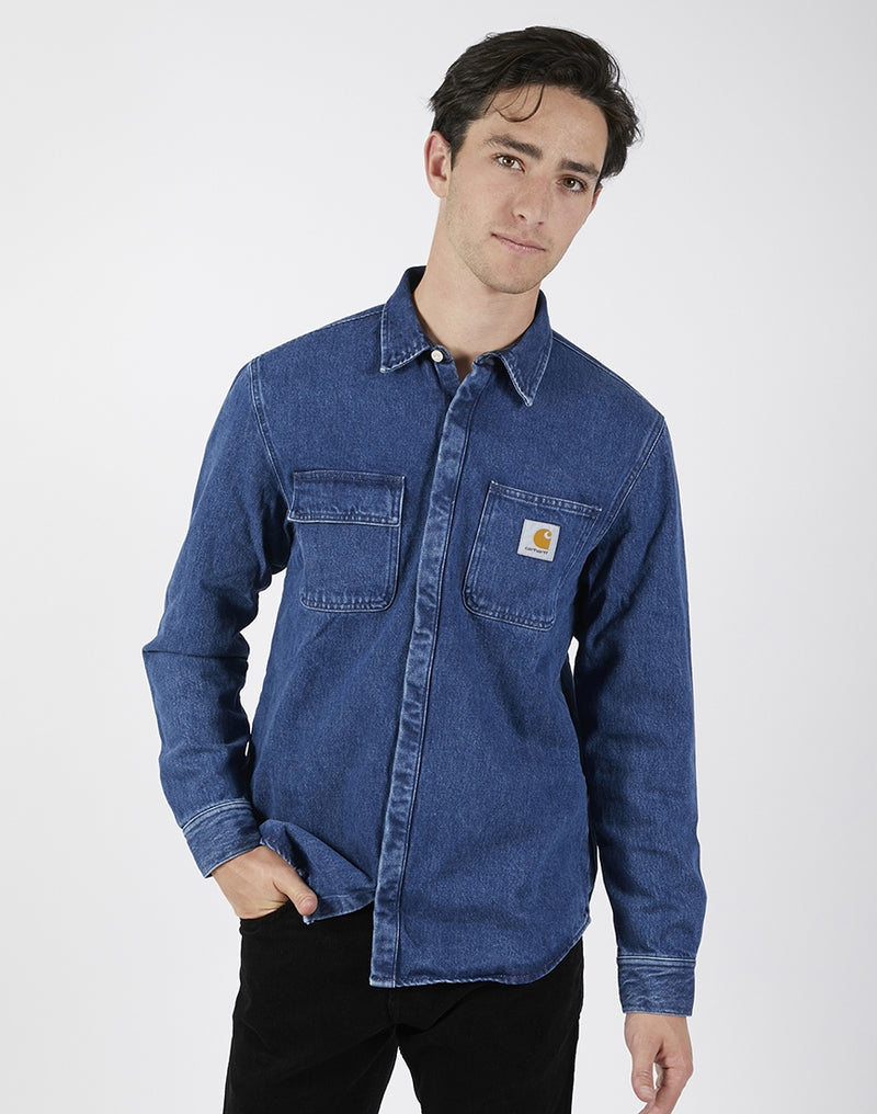 Carhartt WIP - Salinac Shirt Jacket Blue Stone Washed