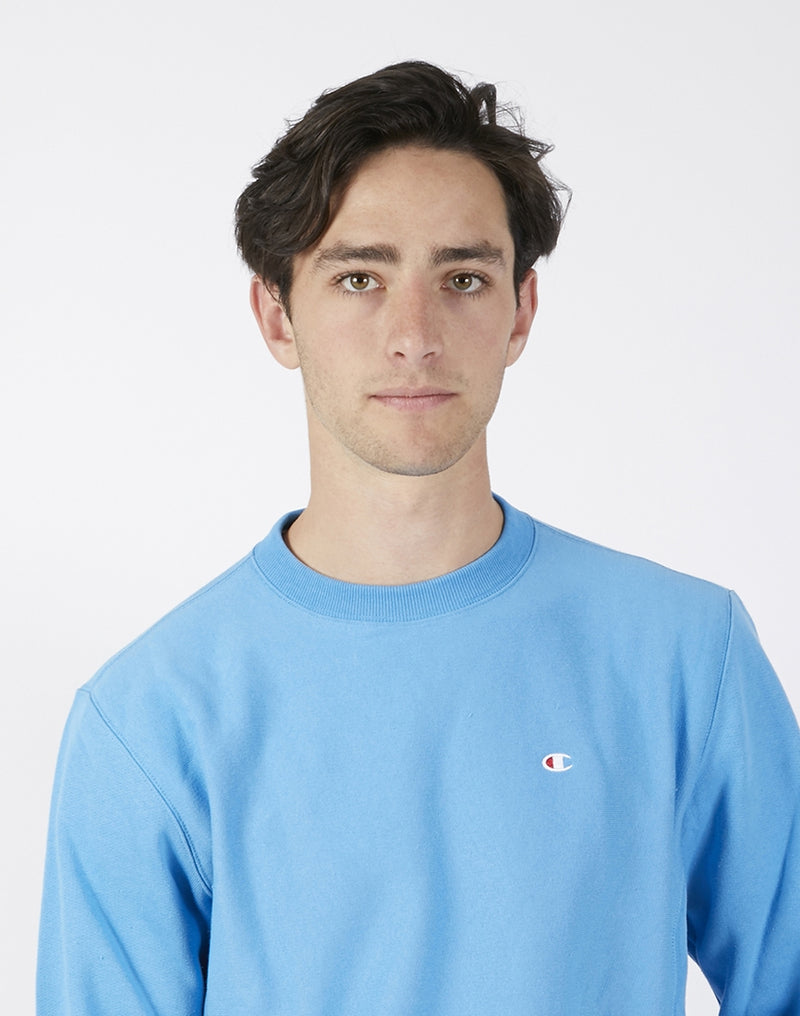 Champion - Reverse Weave Brushed Fleece Sweatshirt Sky Blue