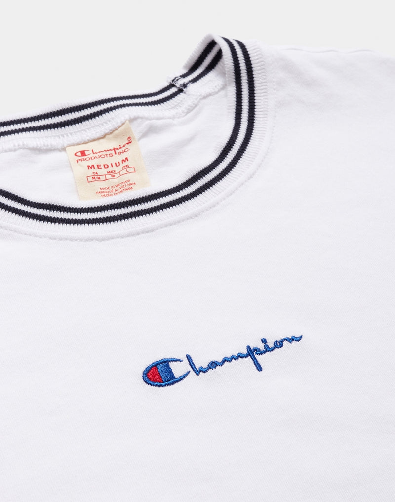 Champion - Contrast Collar Crew Neck T-Shirt White
