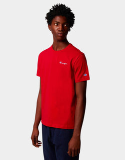 Champion - Crew Neck T-Shirt Small Logo Red