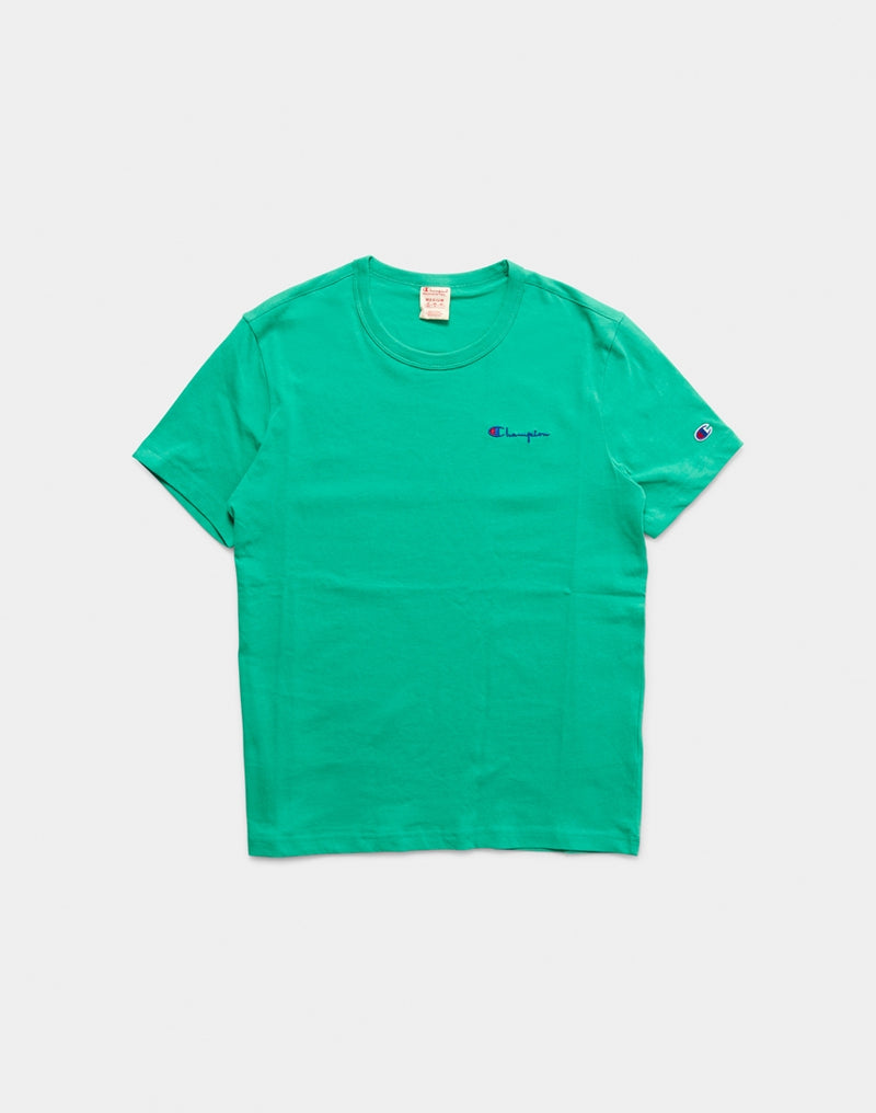 Champion - Crew Neck T-Shirt Small Logo Turquoise